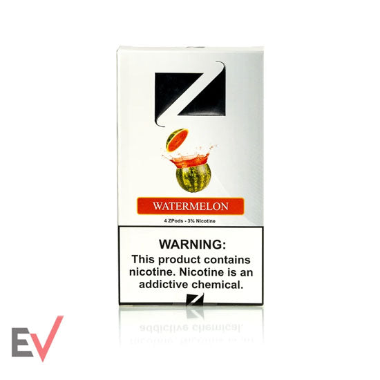 A pack of ZiiP Watermelon flavored Juul-compatible pods