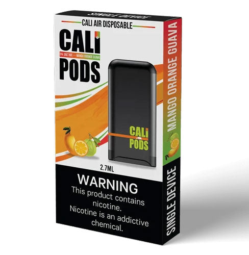 A Cali Pods Air Disposable vape that offers long life and great flavor.