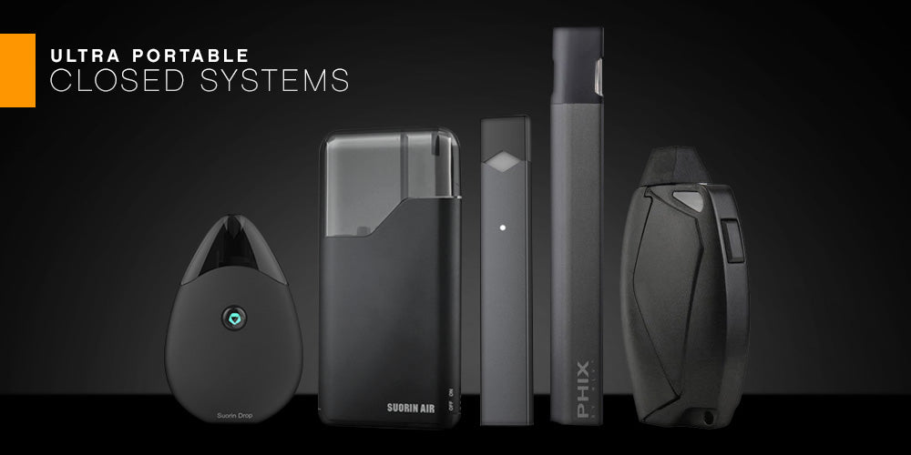 Closed Systems at Elevated Vaping - Suorin Air, JUUL, PHIX, Envii FITT w/ FREE shipping