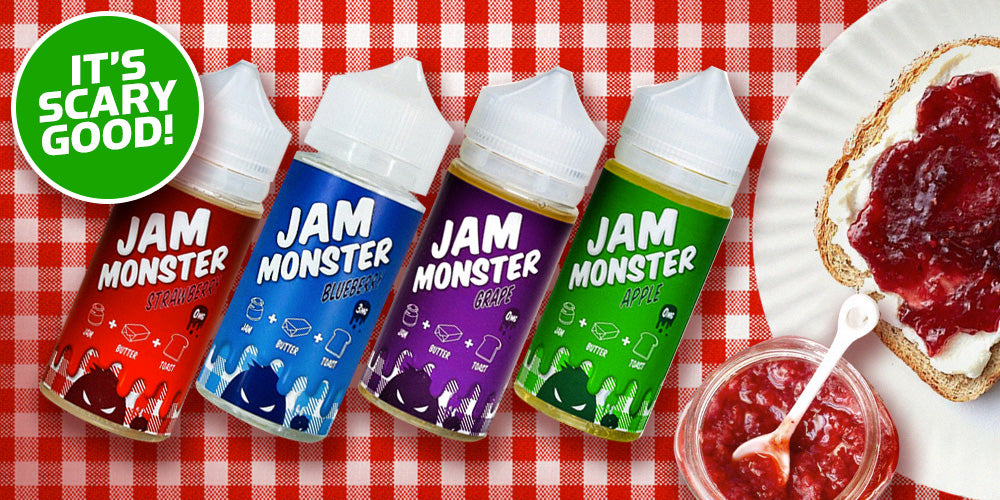 Jam Monster 100ml e-liquid at Elevated Vaping with FREE shipping