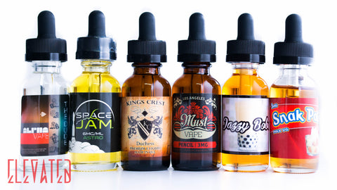 Alpha, Must Vape, Space Jam E Juice, Snak Pak, King's Crest E Liquid at Elevated Vaping