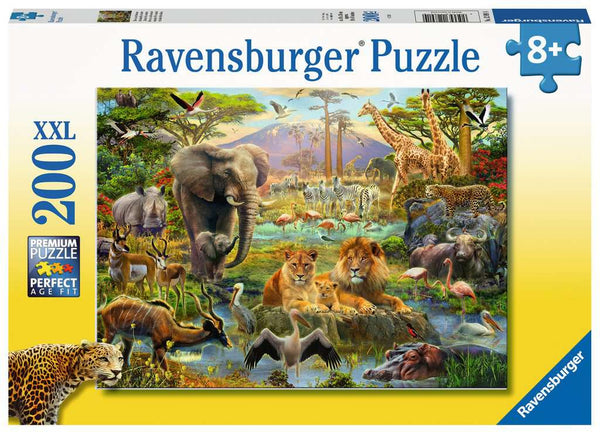 ANIMALS OF THE SAVANNA, 200 XXL PIECE JIGSAW PUZZLE, RAVENSBURGER