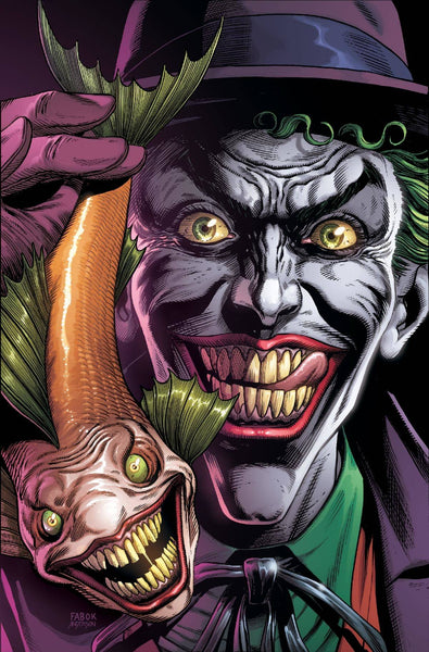 BATMAN THREE JOKERS #1 (OF 3), PREMIUM VARIANT B JOKER FISH W/CARD