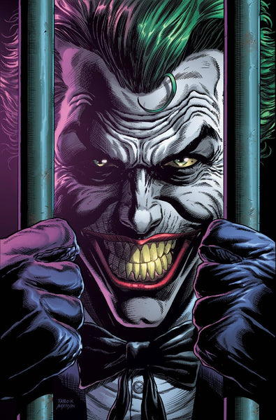 BATMAN THREE JOKERS #2 (OF 3), PREMIUM VAR D BEHIND BARS, WITH PLAYING CARD