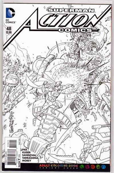 ACTION COMICS #48, COLORING BOOK VARIANT (2016)