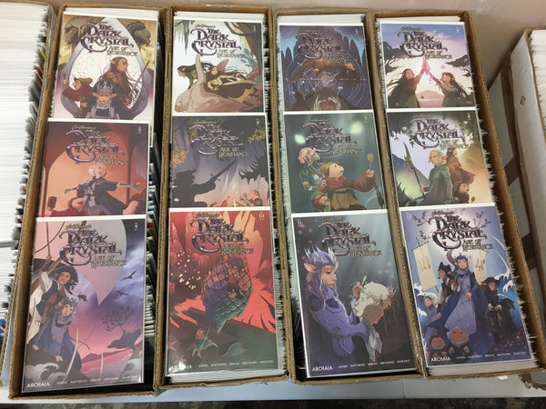 JIM HENSON DARK CRYSTAL AGE OF RESISTANCE, SET OF 12, MAIN COVERS