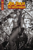 RED SONJA THE SUPERPOWERS #1 COSPLAY (1:25) B&W VARIANT