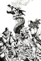 RED SONJA THE SUPERPOWERS #1 LAU B&W (1:30) VIRGIN VARIANT