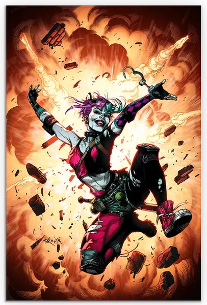 FUTURE STATE HARLEY QUINN #1, GARY FRANK CARD STOCK VARIANT