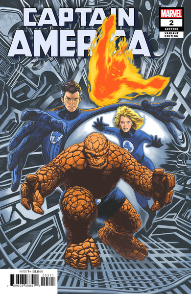 CAPTAIN AMERICA #2, CHAREST RETURN OF FANTASTIC FOUR VARIANT, Marvel Comics (2019)