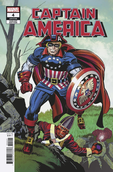 CAPTAIN AMERICA #4 KIRBY REMASTERED VARIANT (2018)