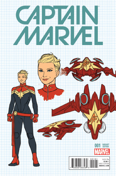 CAPTAIN MARVEL #1 ANKA DESIGN VARIANT, Marvel Comics (2016)