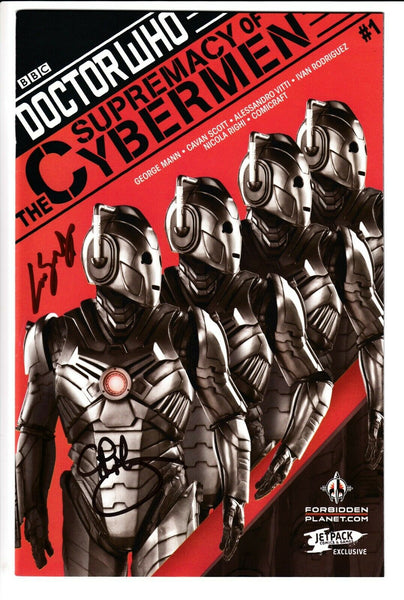 DOCTOR WHO SUPREMACY OF THE CYBERMEN #1, JETPACK VARIANT SIGNED, Titan (2017)