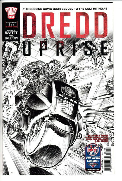 DREDD: UPRISE #2, PREVIEWS UK EXCLUSIVE COVER, 2000AD (2014)