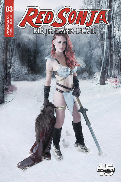 RED SONJA: BIRTH OF SHE DEVIL #3, COVER C COSPLAY, Dynamite (2019)