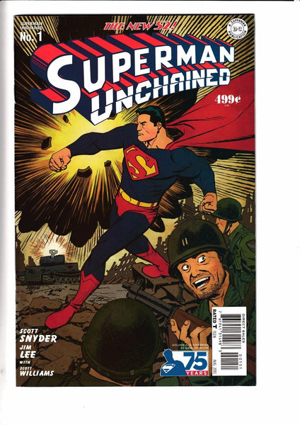 SUPERMAN UNCHAINED #1, JOHNSON 1:75 GOLDEN AGE VARIANT, New, DC NEW 52 (2013)