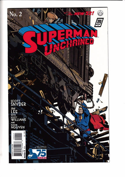 SUPERMAN UNCHAINED #2, JOHN PAUL LEON 1:100 1930s VARIANT, New, DC NEW 52 (2013)