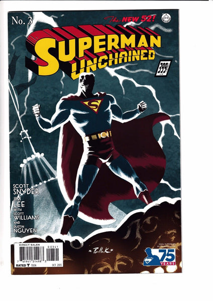 SUPERMAN UNCHAINED #3, BULLOCK 1:100 1930s VARIANT, New, DC NEW 52 (2013)