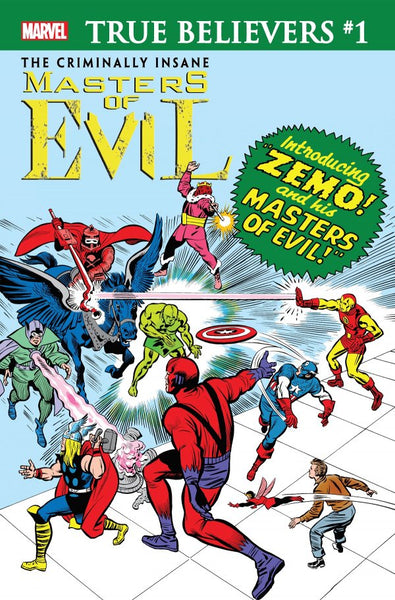 TRUE BELIEVERS CRIMINALLY INSANE MASTERS OF EVIL #1, Marvel (2020)