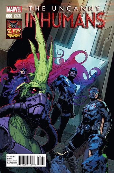 UNCANNY INHUMANS #0, 50 YEARS OF INHUMANS VARIANT, New, Marvel (2015)