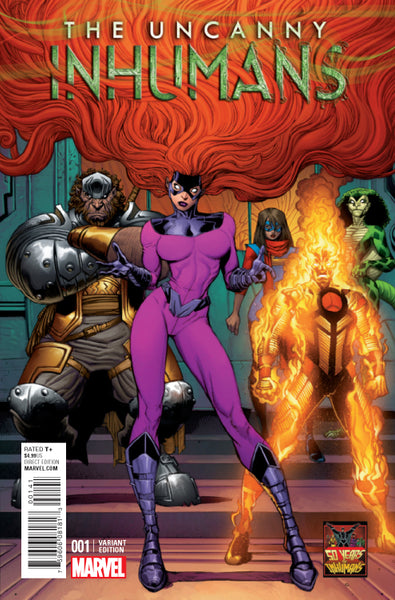 UNCANNY INHUMANS #1, ART ADAMS 1:50 VARIANT, Marvel Comics (2015)