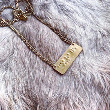 Load image into Gallery viewer, Courage in Braille Necklace