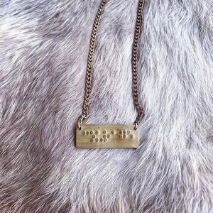 Courage in Braille Necklace