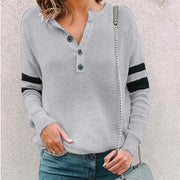 Maternity Casual Round Neck Button T-Shirt