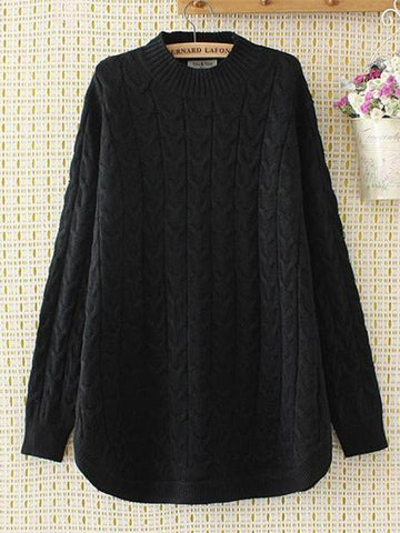 Half-High Collar Wild Twist Mid-Length Bottoming Sweater