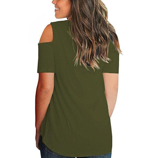 V Neck Short Sleeved T-Shirt