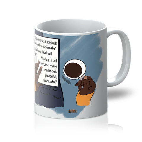 Positive affirmations ceramic mug