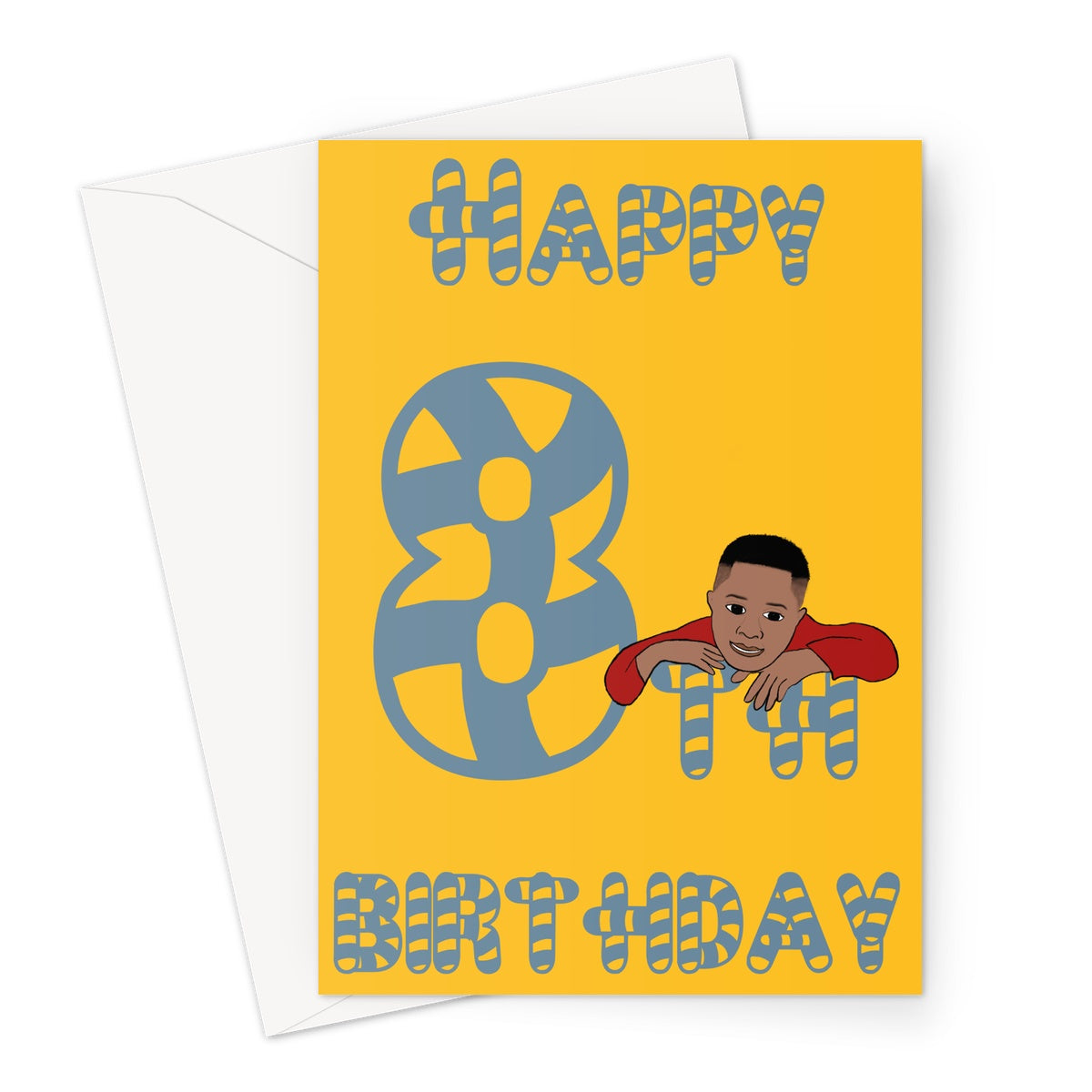 Jamal is 8 Greeting Card - Expressive Shades