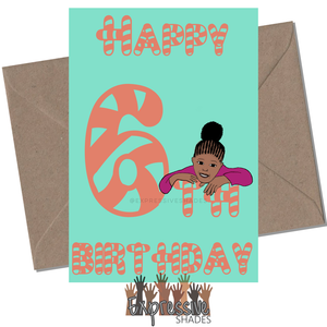 Mia Is 6 Birthday Card
