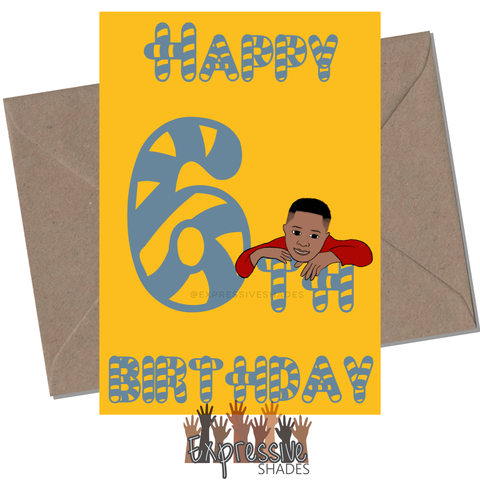 Jamal Is 6 Birthday Card