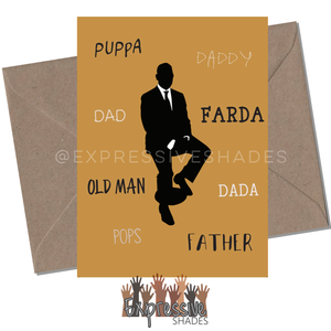 Dad synonyms Greeting Card