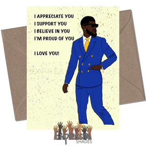 Appreciate Him Greeting Card