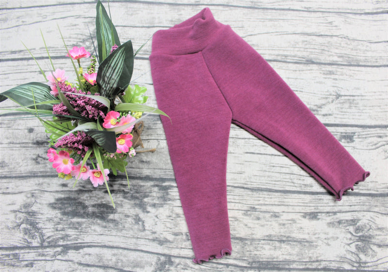 Leggings en laine - INSEAM LONG - BERRY Taille Petit/Small