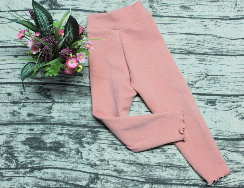 Leggings en laine / Taille Moyen/Medium - INSEAM LONG / Couleur CORAL