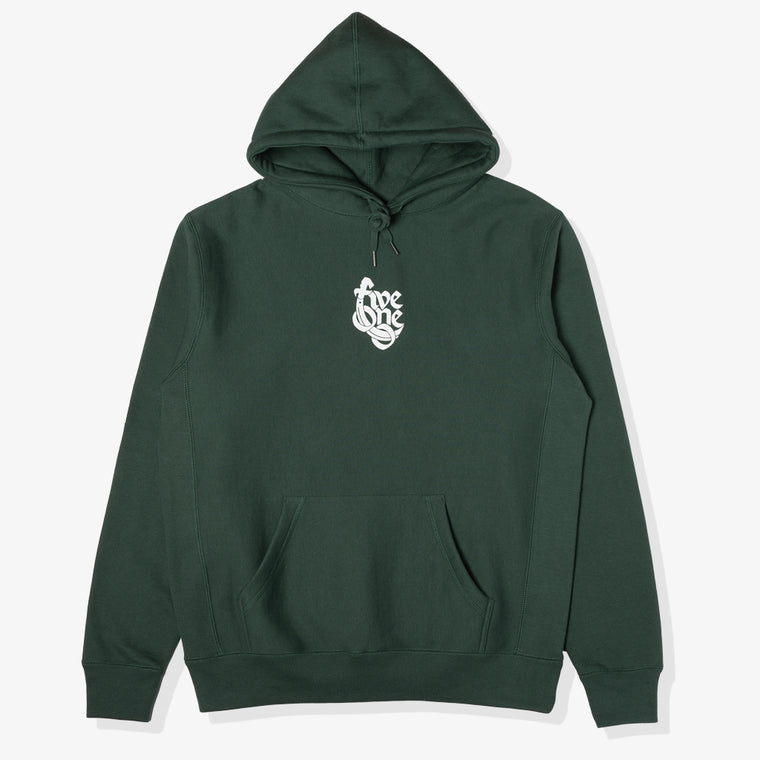 510 90'S HEAVYWEIGHT HOODY (GREEN/WHITE)