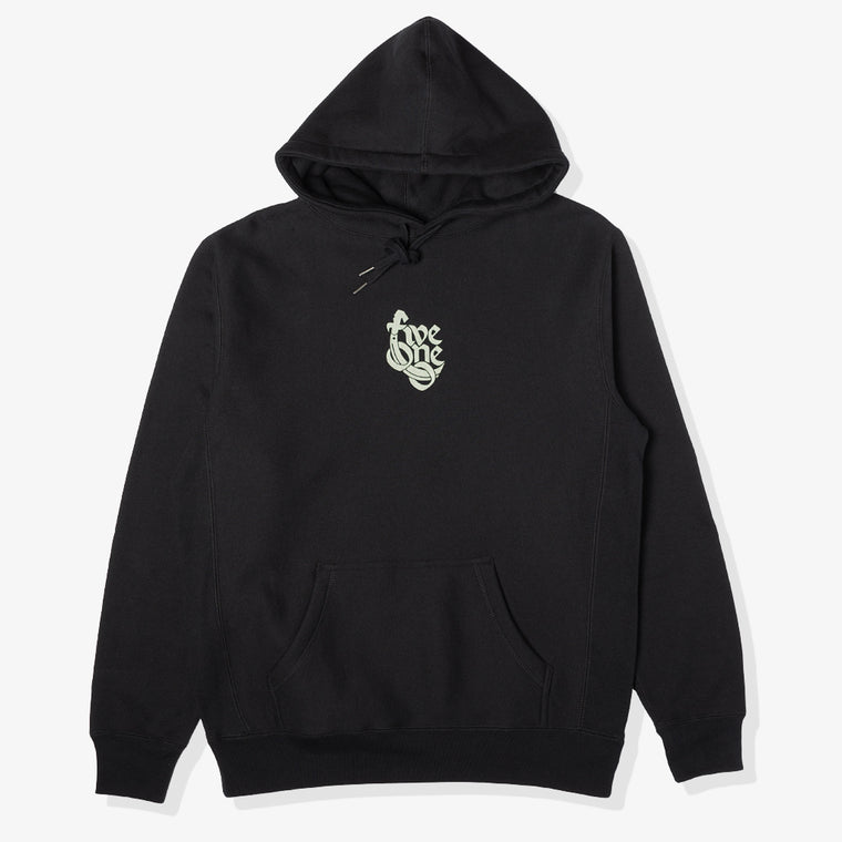 510 90'S HEAVYWEIGHT HOODY (BLACK/ARMY)