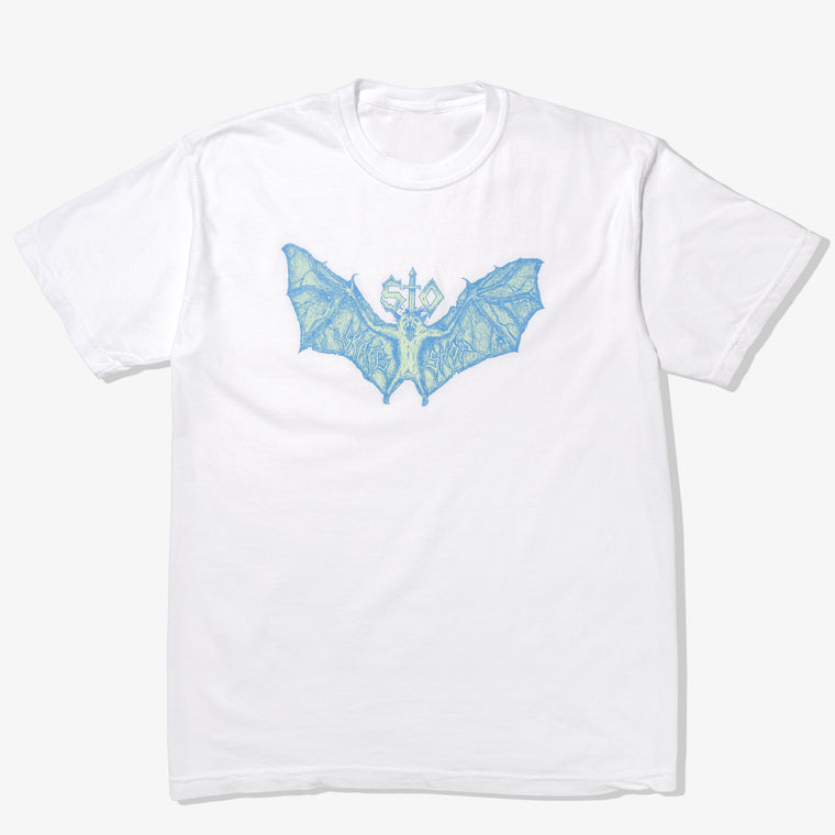 510 BAT TEE (WHITE/BLUE)