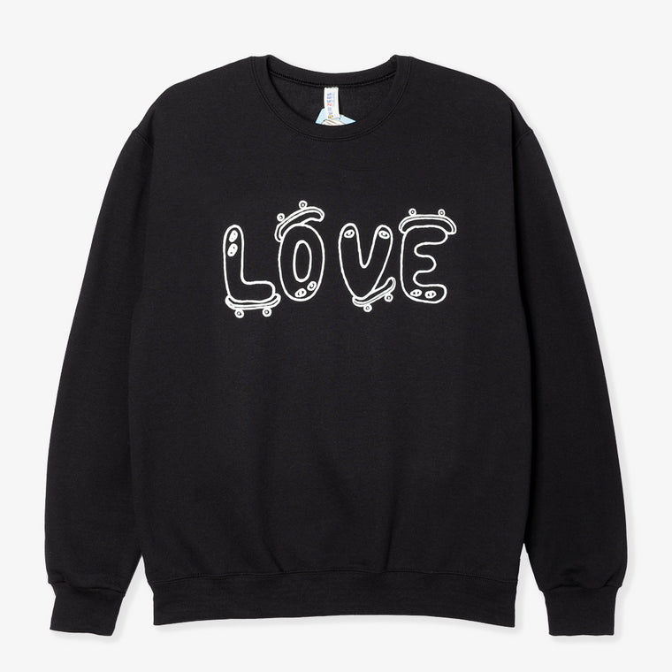NO FOCUS ARTS LOVE CREWNECK (BLACK)