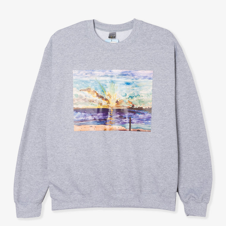 NO FOCUS ARTS SUNSET CREWNECK (GREY)