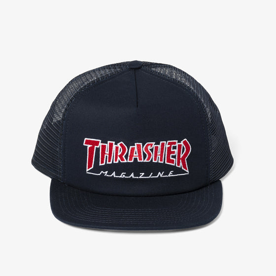 THRASHER OUTLINED MESH SNAPBACK (NAVY)