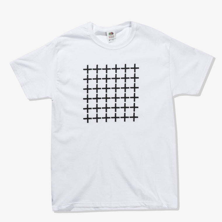 BLACK CROSSES TEE (WHITE)