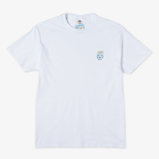 No Focus Arts Skull Angel Tee (White)