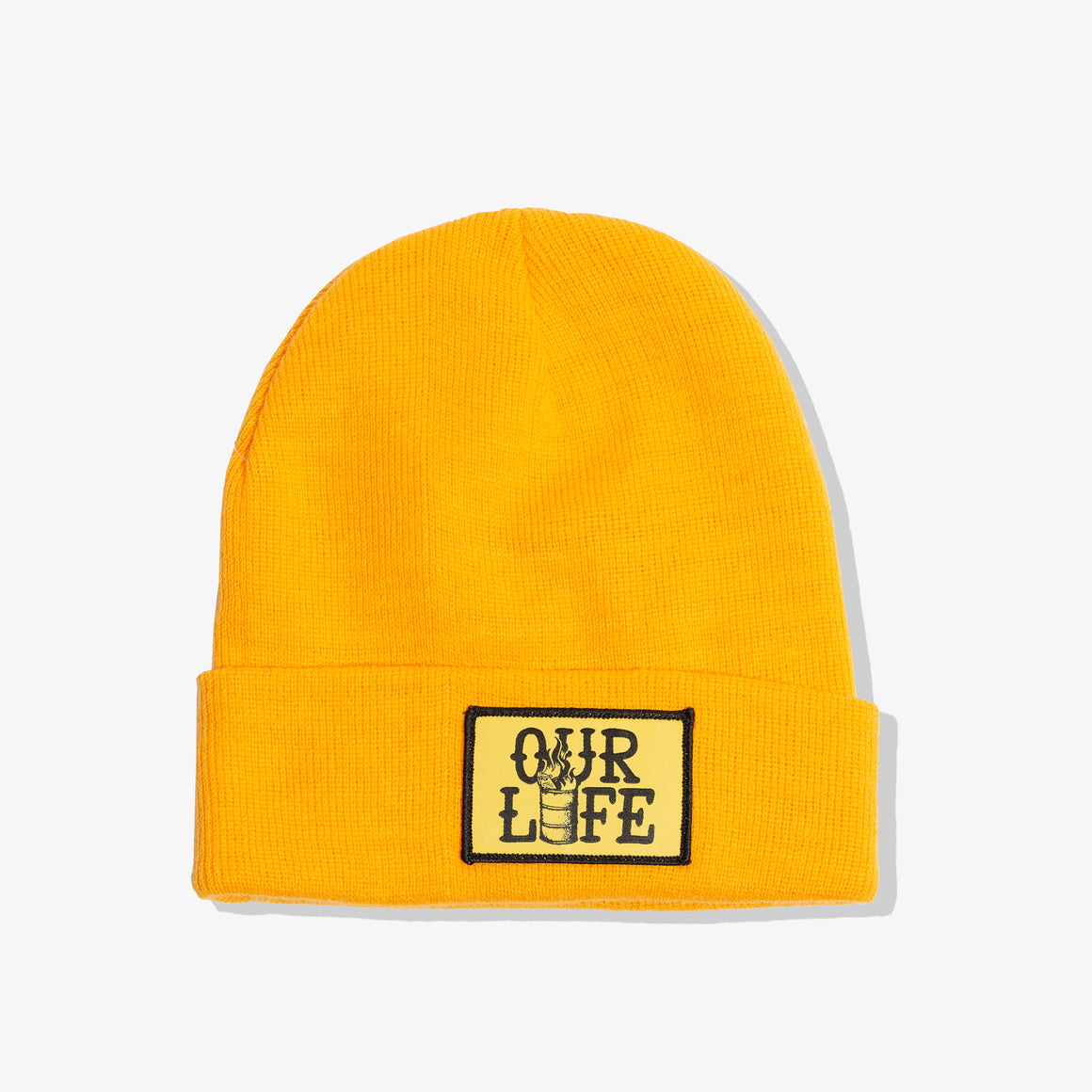 OUR LIFE PATCH BEANIE (GOLD)