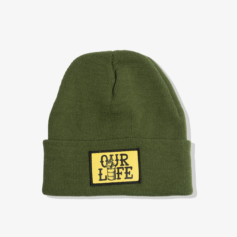 OUR LIFE PATCH BEANIE (GREEN)