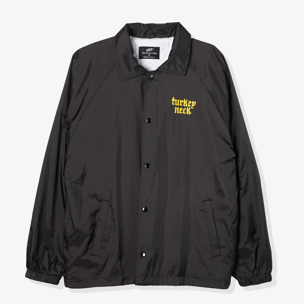 TURKEY NECK AXED COACH JACKET (BLACK)