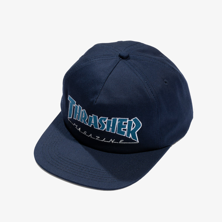 1f38f3d059d THRASHER OUTLINED SNAPBACK (NAVY)